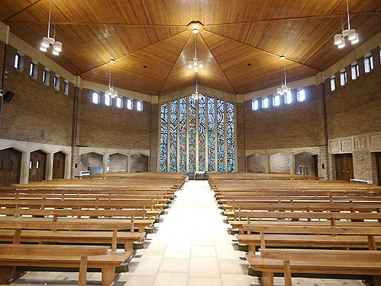 holy rood swindon religous building church lighting design